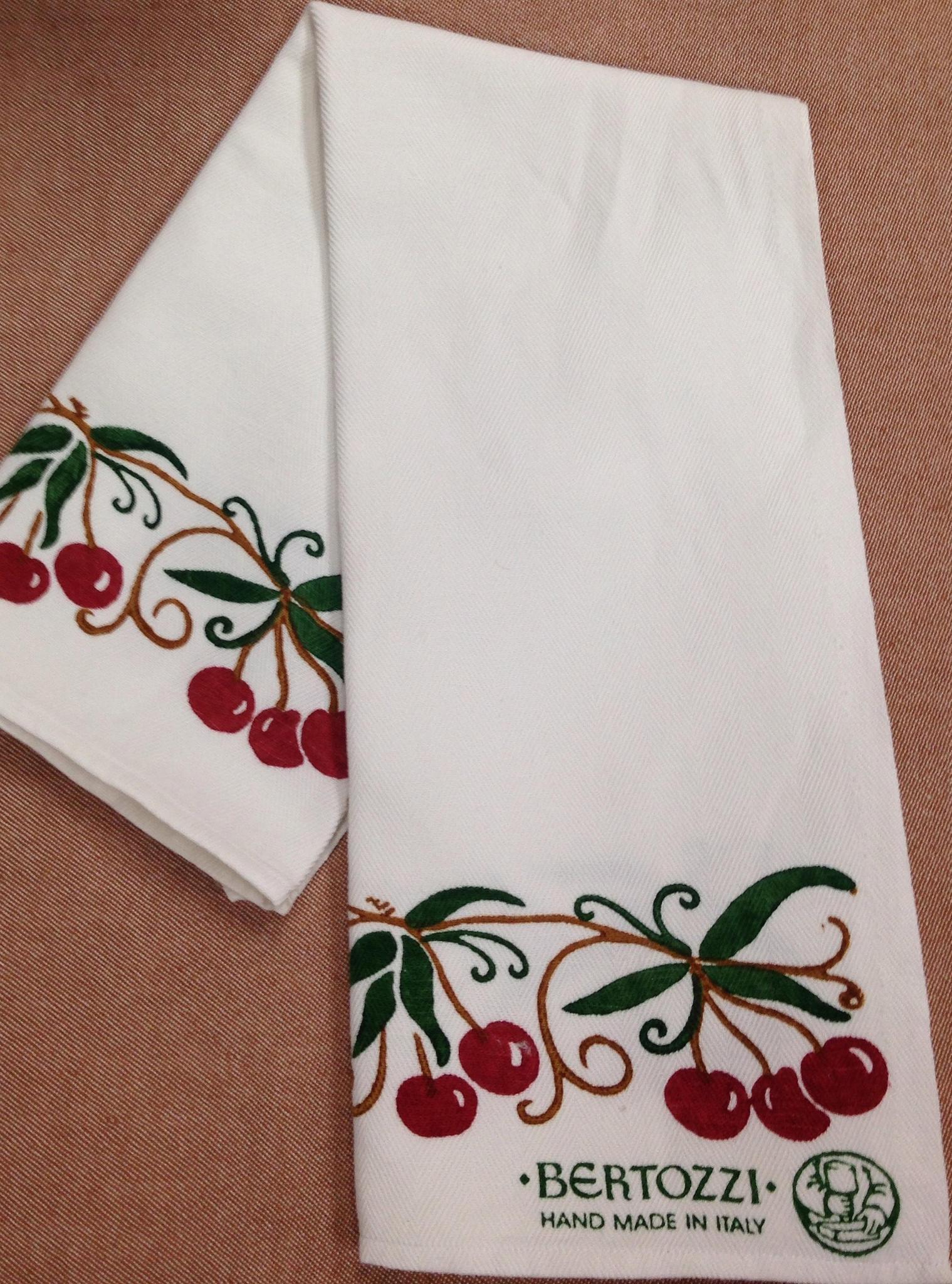 Cherry Kitchen Towel By Bertozzi Italian Bed Bath And
