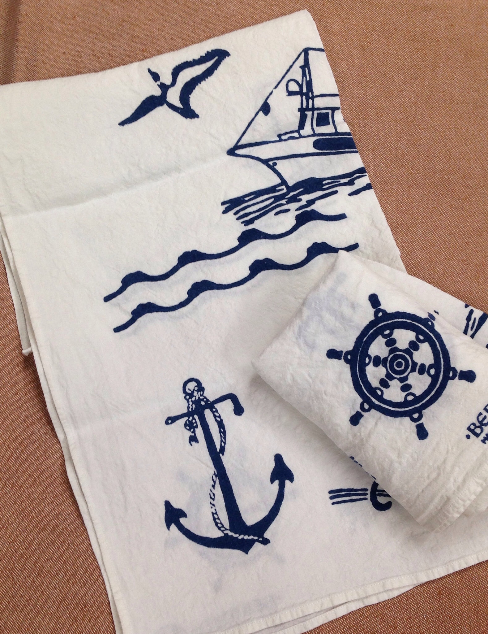 Pure Linen Nautical Kitchen Towels Italian Bed Bath And