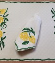 Lemon Place Mat and Napkin
